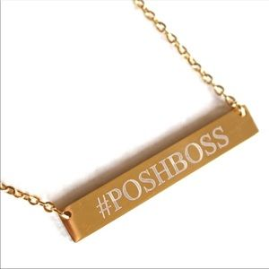 POSHBOSS GOLD STAINLESS PENDANT NECKLACE